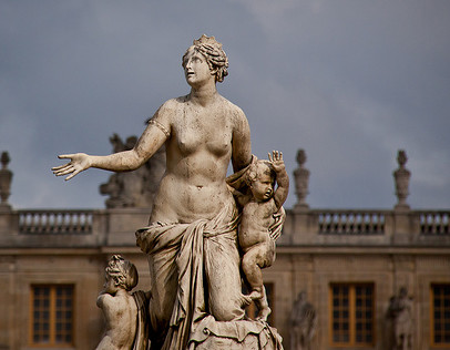 Statue outside the Palace Versailles, France