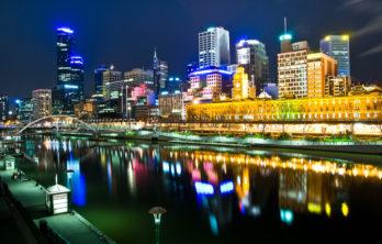 Melbourne, Australia by night