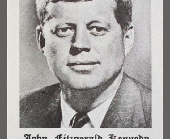 President John F. Kennedy Prayer Card
