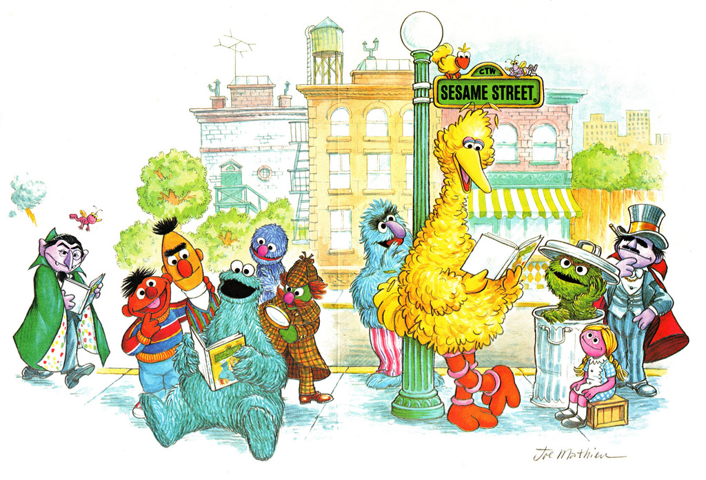 Sesame Street illustration by Joseph Mathieu, 1979