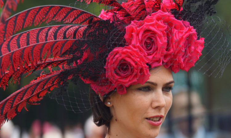 Hats on Ladies' Day at Royal Ascot