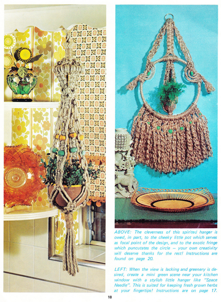 Macrame Hangers For Small Spaces 1975
