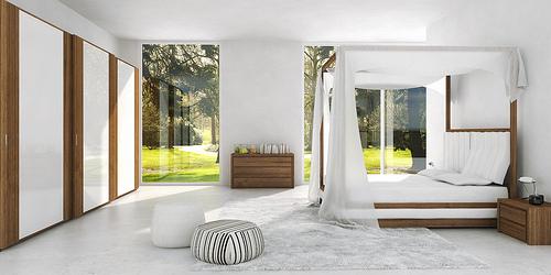 Mazzali: WIND canopy bed / il letto a baldacchino WIND. SKY wardrobe. Bedroom area
