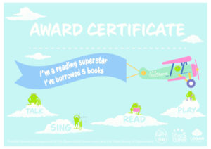 Award Certificate -  5 books