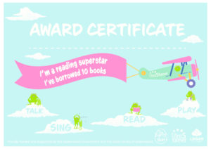 Award Certificate - 10 books