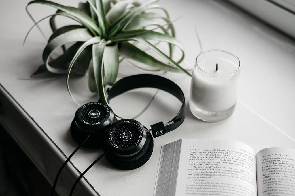Grado SR60e Headphones in Window Sill