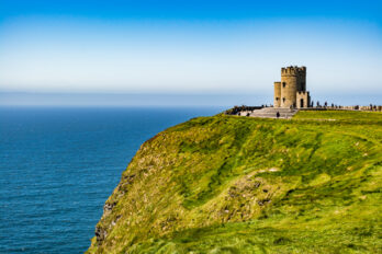 Ireland:,O'brien's,Tower,,Marks,The,Highest,Point,Of,The,Cliffs