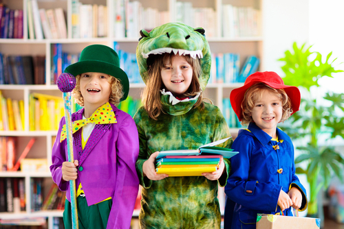 Kids,In,Book,Character,Costume.,School,Dress,Up,Party.,English